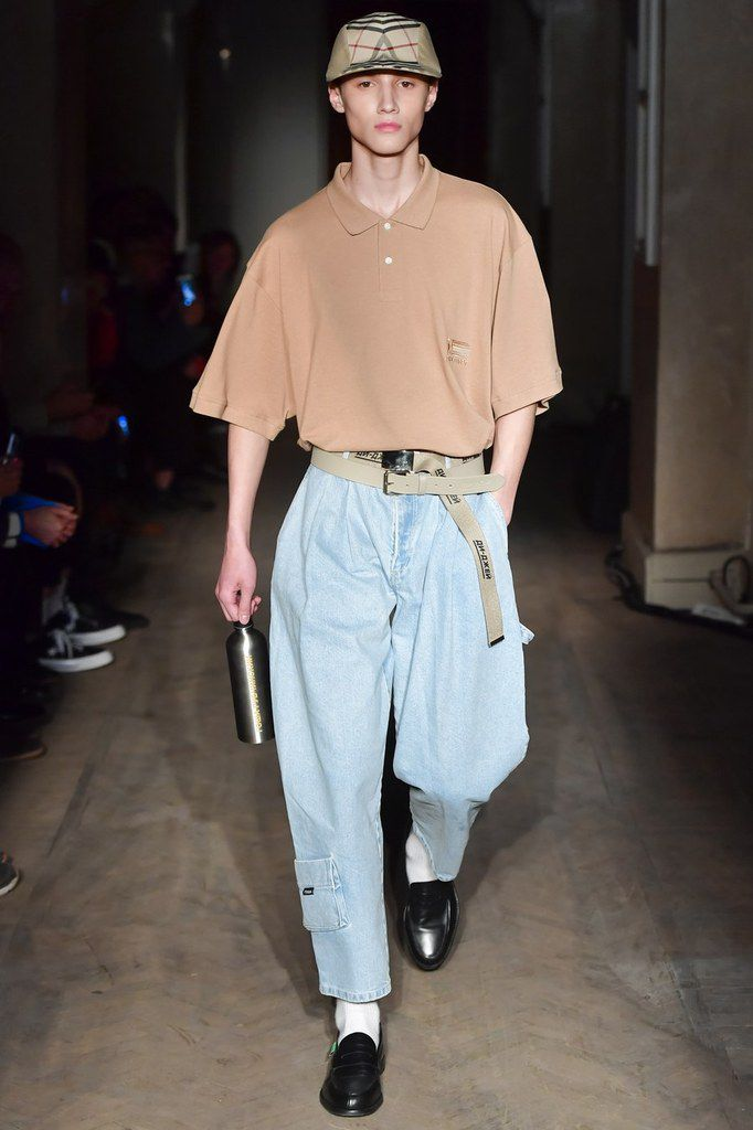 Some Looks from Gosha Rubchinskiy spring/summer 2018 menswear collection.