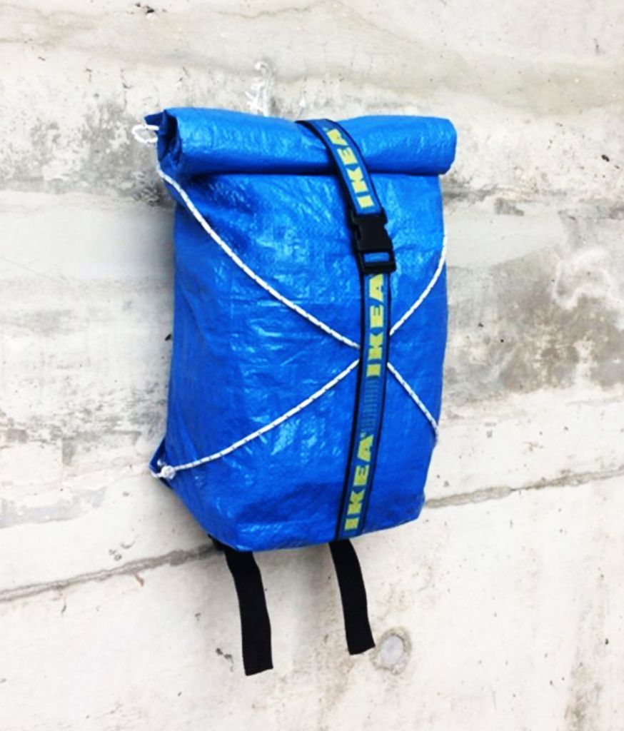 Simon Langlois & Marie-Christine Fortier reworked the IKEA blue bag.