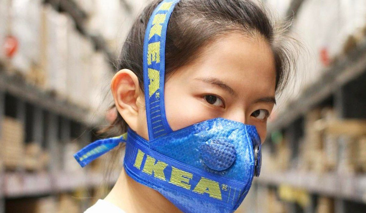 Do it yourself culture / Ikea face mask / made by @zhijuanwang