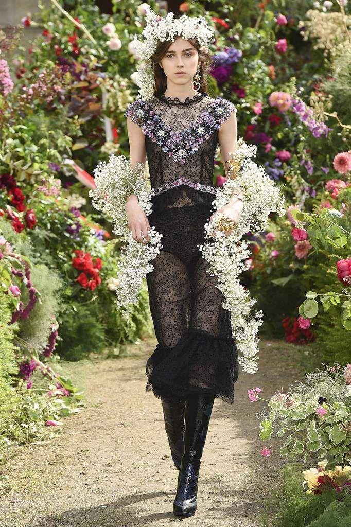 Rodarte Spring 2018 presented during Paris Haute Couture Fashion Week.