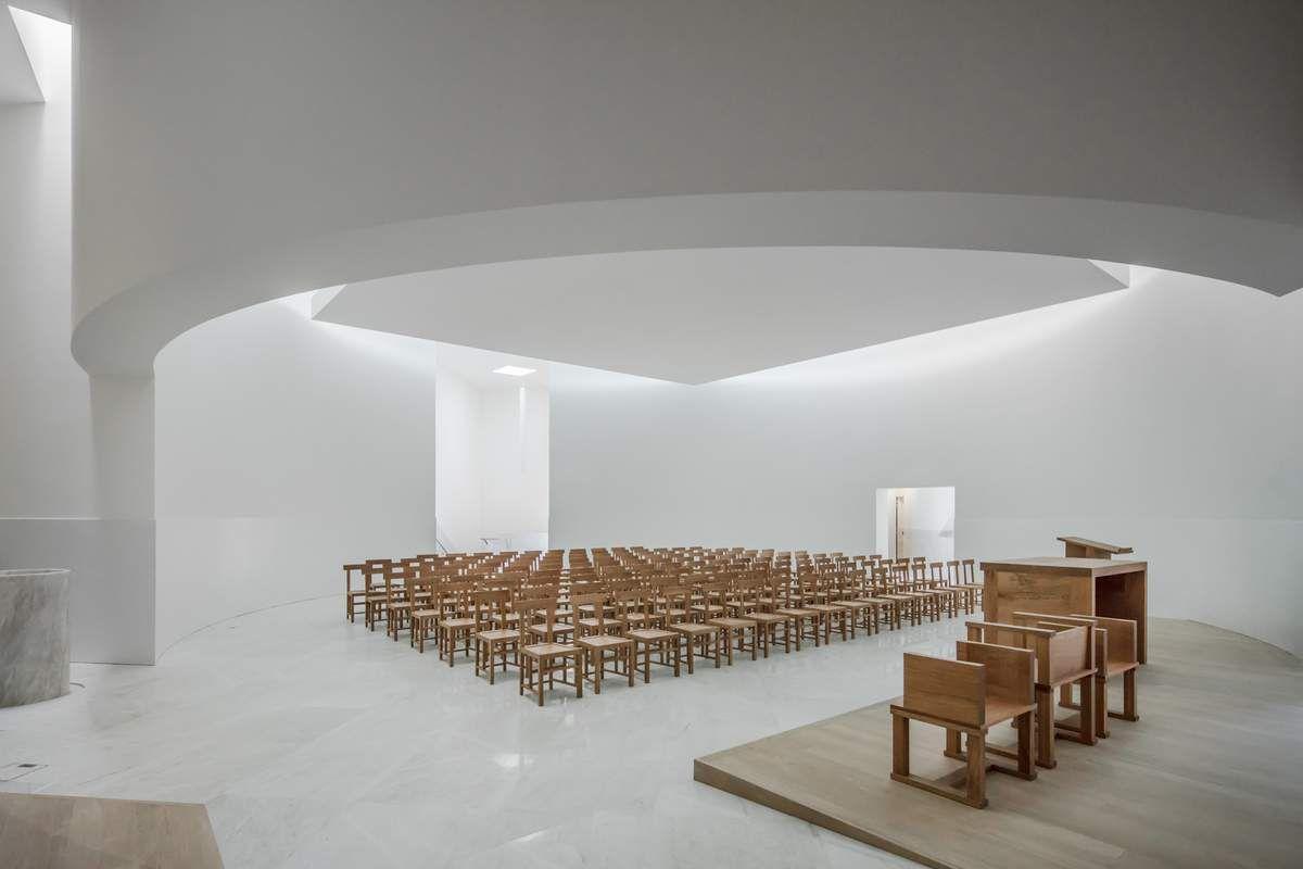 alvaro siza vieira designed the new church of saint jacques de la lande in rennes france arc. Black Bedroom Furniture Sets. Home Design Ideas
