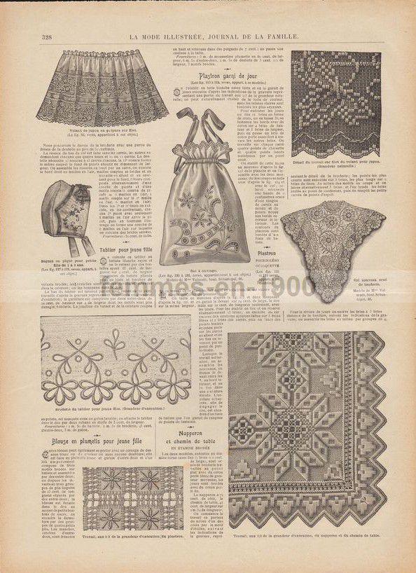 Les ouvrages de la mode illustrée de 1905 numéro 27 .
