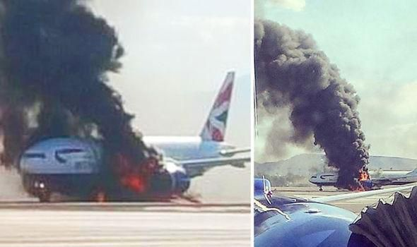 Incendie BOEING BRITISH AIRWAYS, aéroport de Las Vegas 08-09-2015