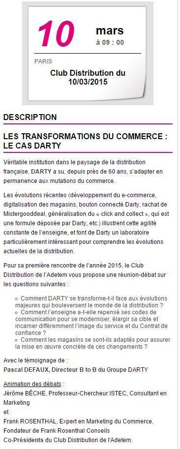 Conférence Adetem : Les transformations du commerce : le cas Darty