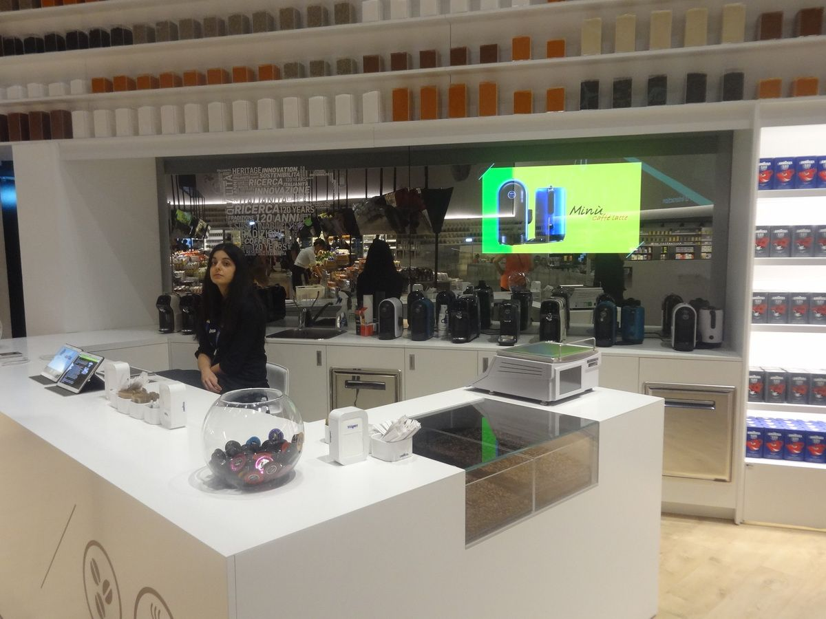 Le stand Lavazza au sein du Future Food District