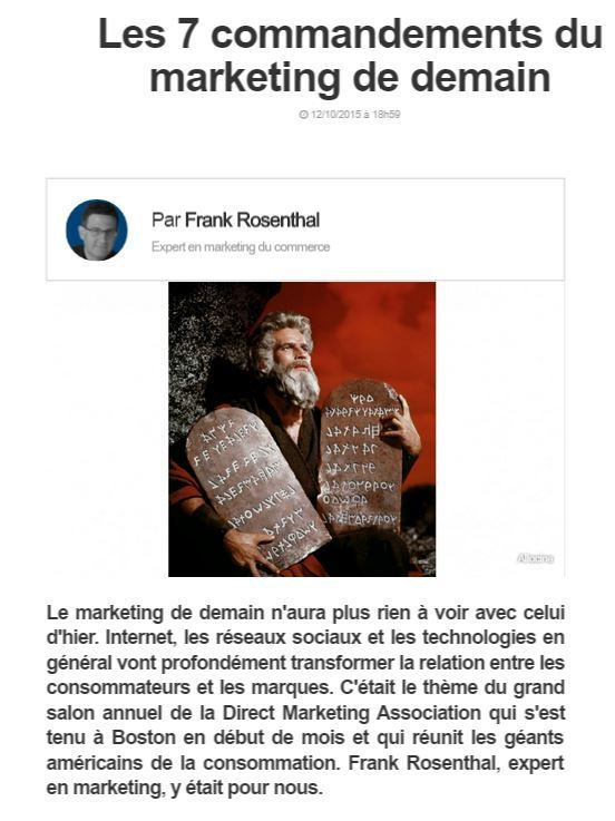 Tribune BFM Business: les 7 commandements du marketing de demain