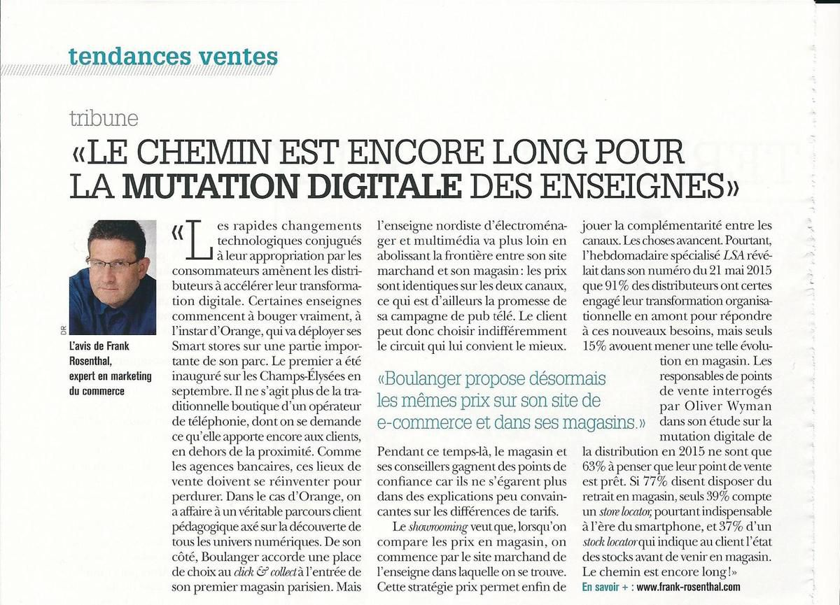Benchmark distribution n°47 : la mutation digitale des enseignes