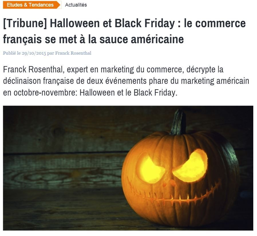 Halloween et Black Friday : l'américanisation du commerce