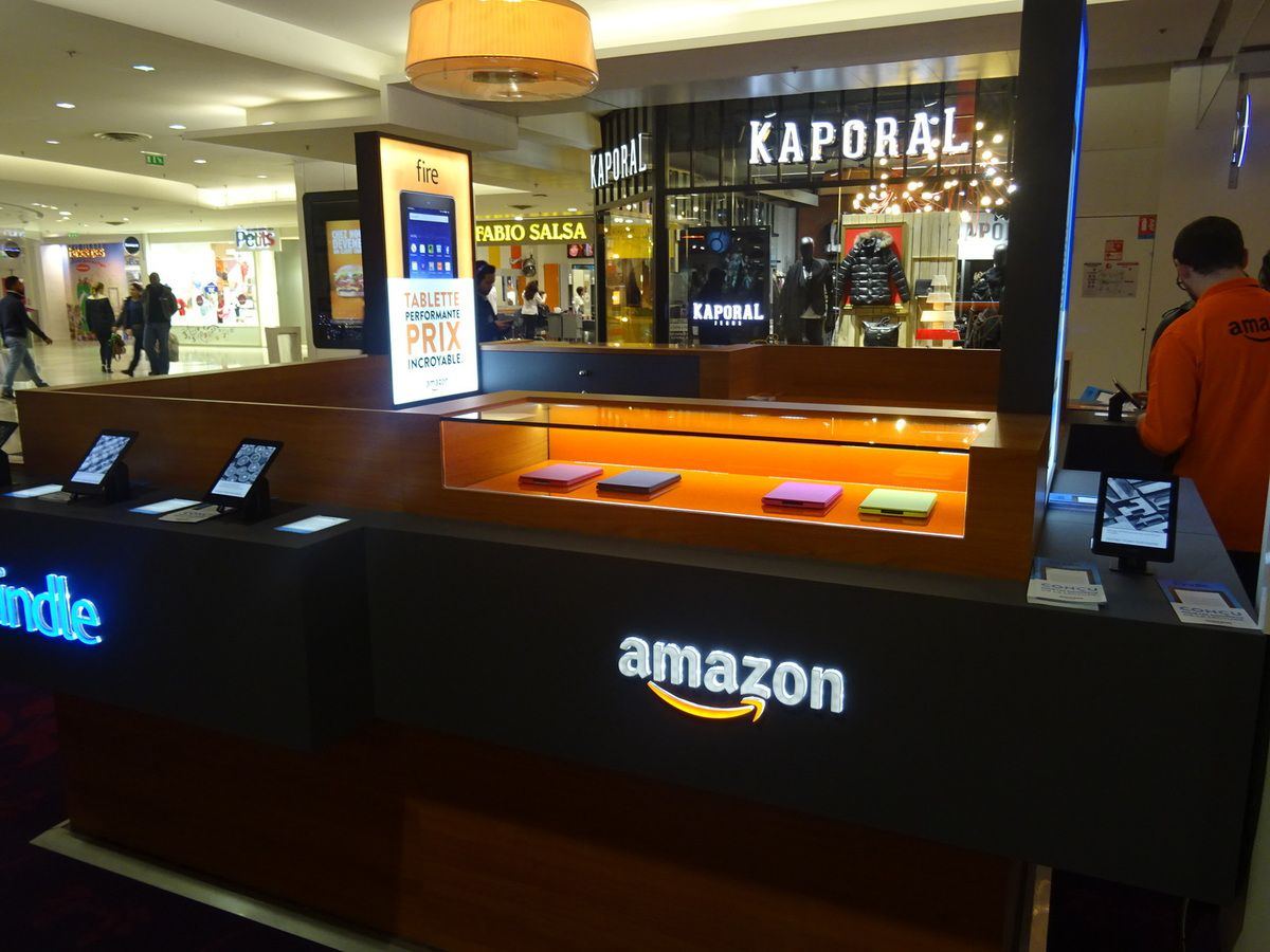 Le pop-up de Amazon au centre commercial des 4 Temps
