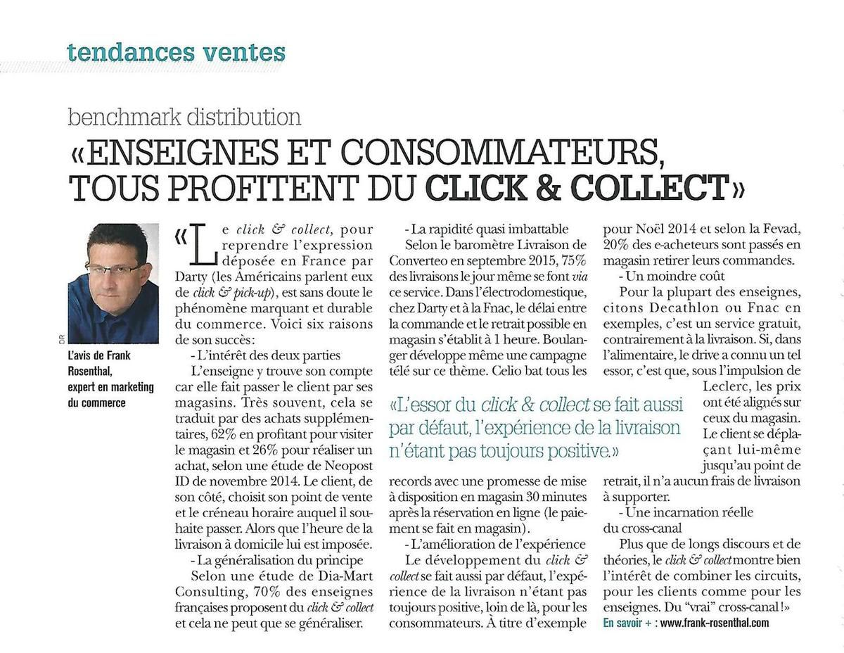 Benchmark distribution n°48 : le développement du click and collect