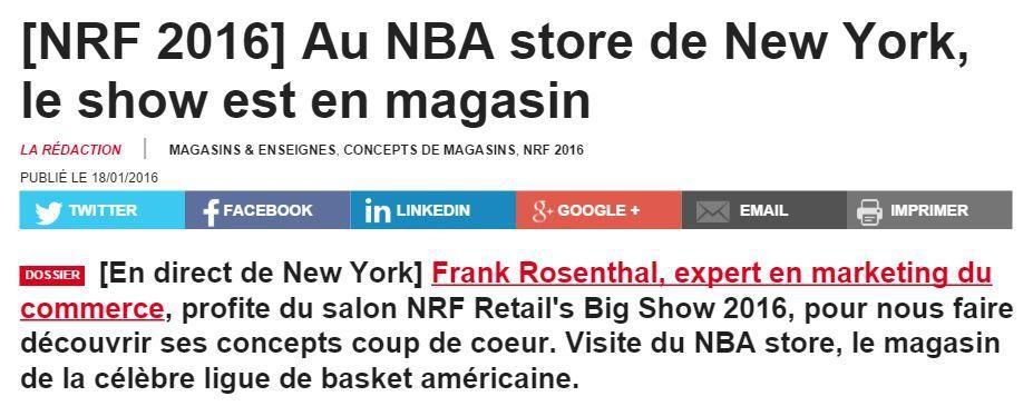 Spécial NRF 2016 (2) : le NBA Store fait le spectacle
