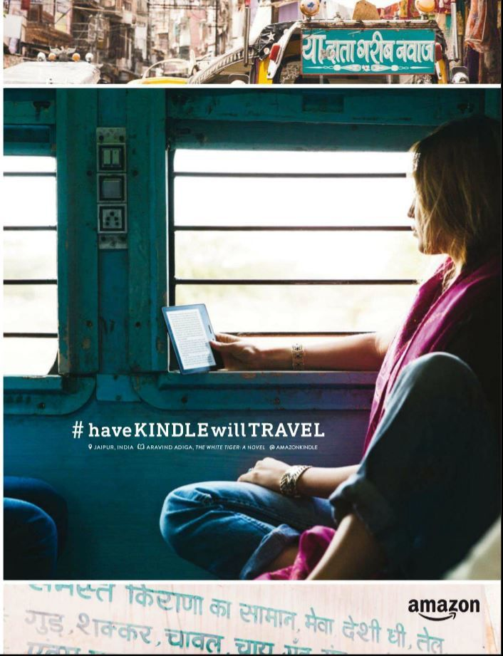 Les pubs de l'été : Amazon kindle = travel (5)