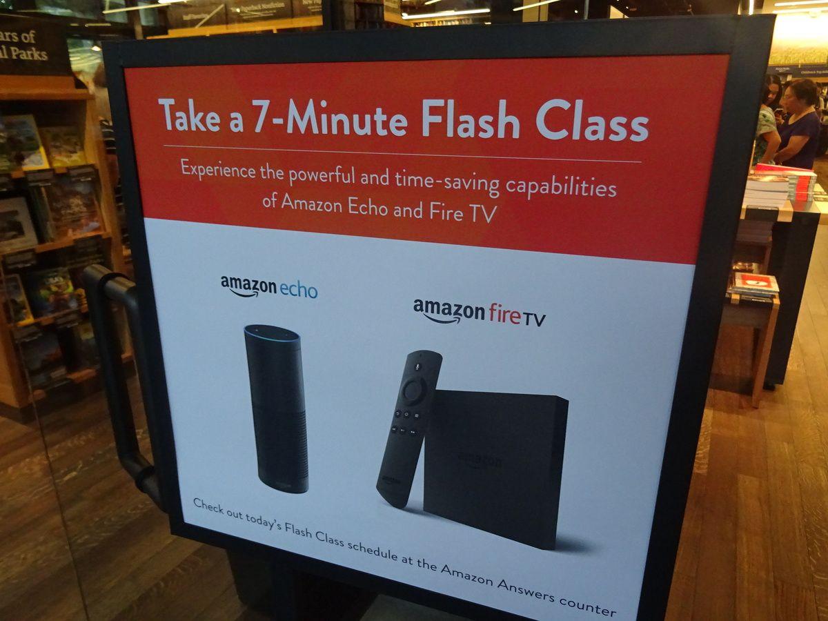 Amazon Books fait des démonstrations de 7 minutes de sa solution Echo qui connaît un grand succès
