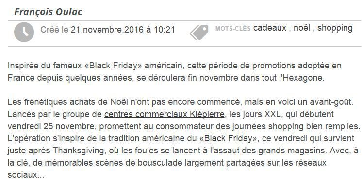 Que penser du Black Friday 2016 ?