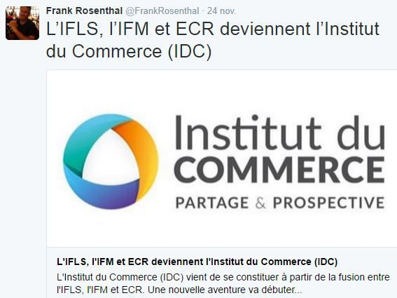 Retail Tweets (6) : Bienvenue à l'Institut du Commerce