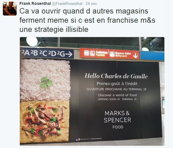 Retail Tweets (7) : L'incompréhensible Marks &amp&#x3B; Spencer