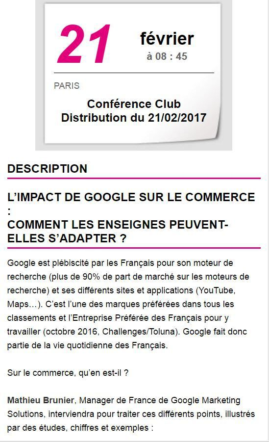 Adetem Club distribution : l'impact de Google sur le commerce