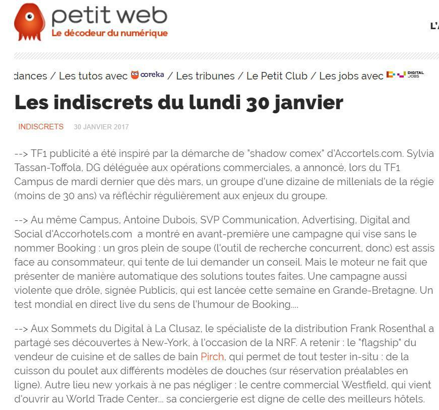 L'article de Petit Web