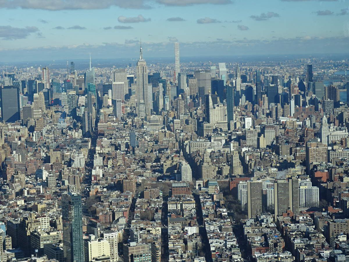 Vue sur Manhattan du One WTC