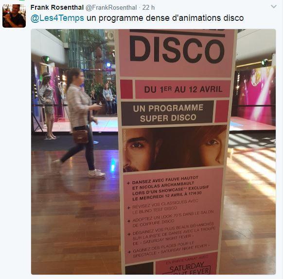 Retail Tweets 26 : les 4 Temps s'enflamme pour le disco !