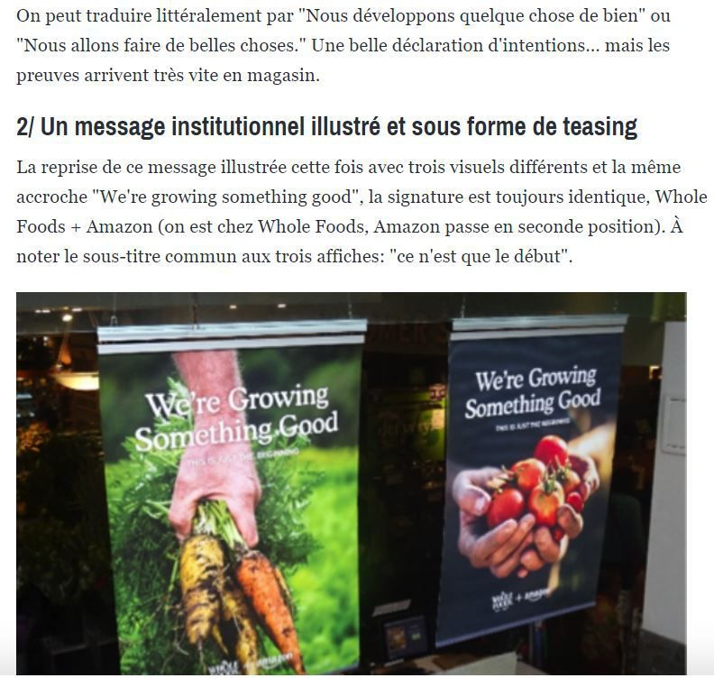 En direct de New York : Whole Foods + Amazon qu'est-ce que cela donne en magasin ?
