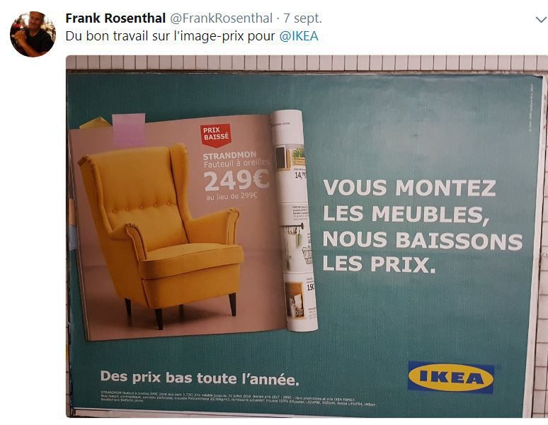 Retail Tweets n°41 : Ikea travaille son image-prix