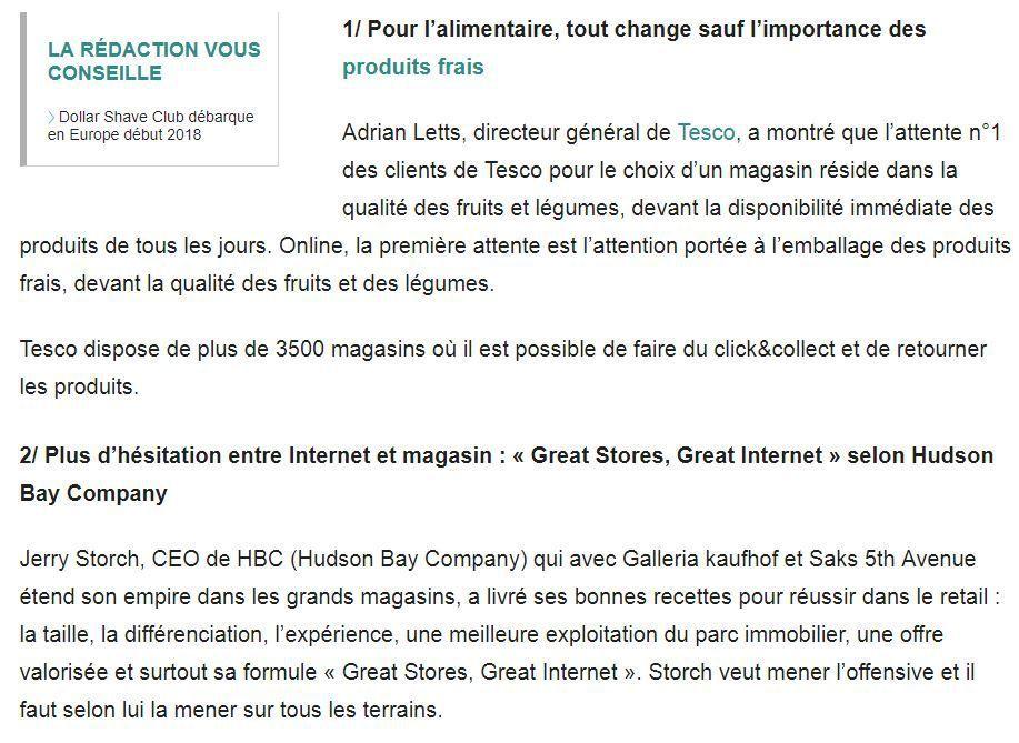 Dans les médias (4) : Les enseignements de Shoptalk Europe tribune pour LSA