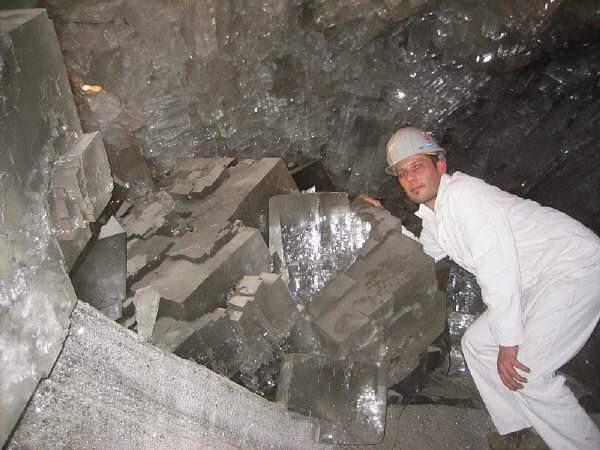 Monstre de cristal de Halite de Thuringe, Allemagne