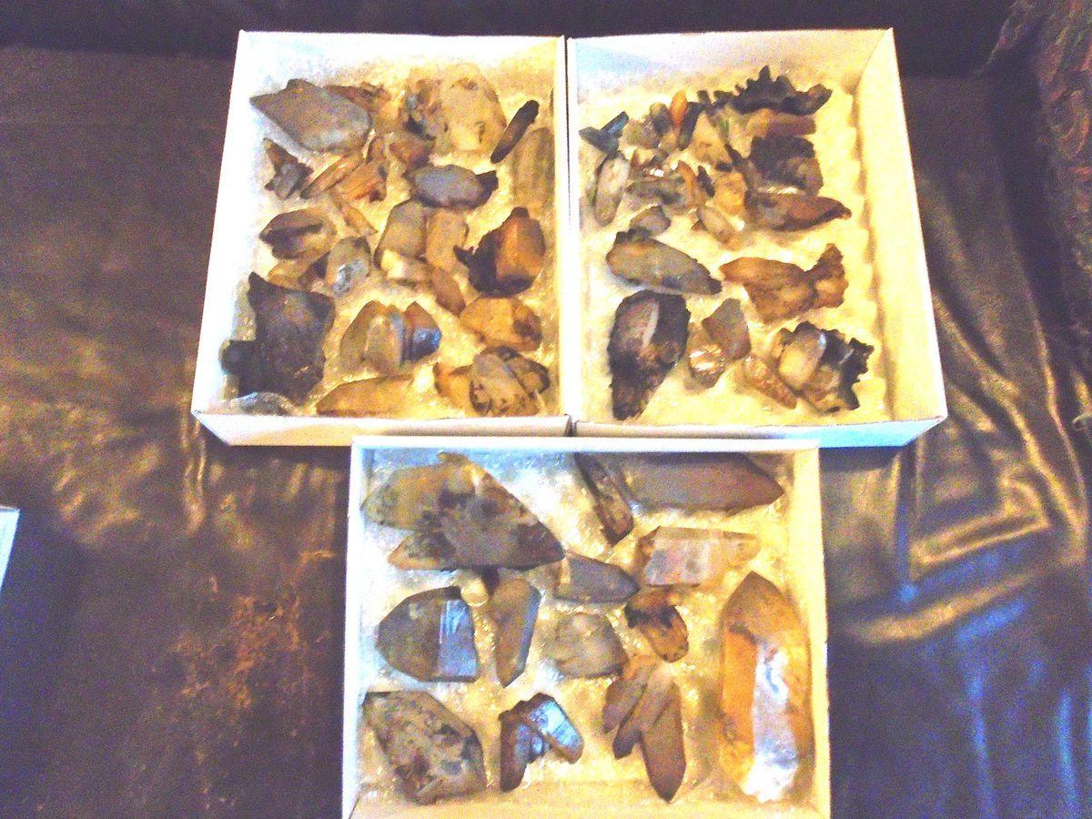 Quelques quartz découverts à Bierghes ce vendredi 4 décembre