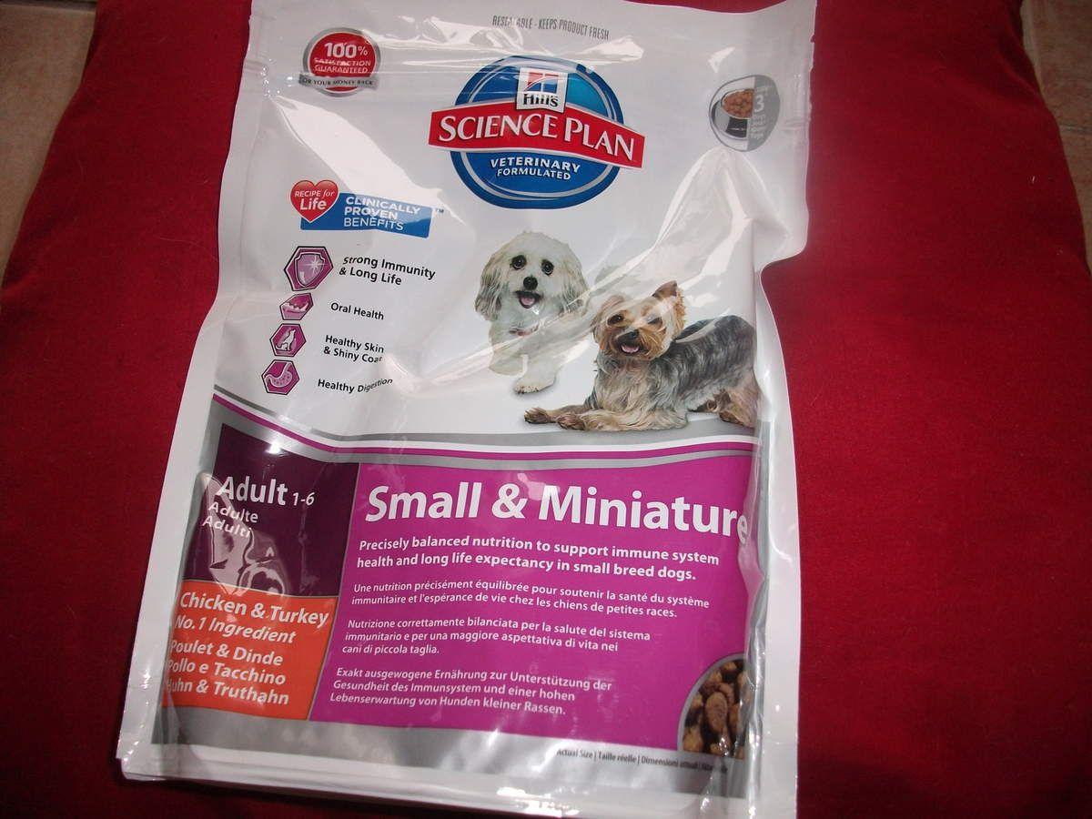 petit sachet de croquettes pour petits chiens (++++)