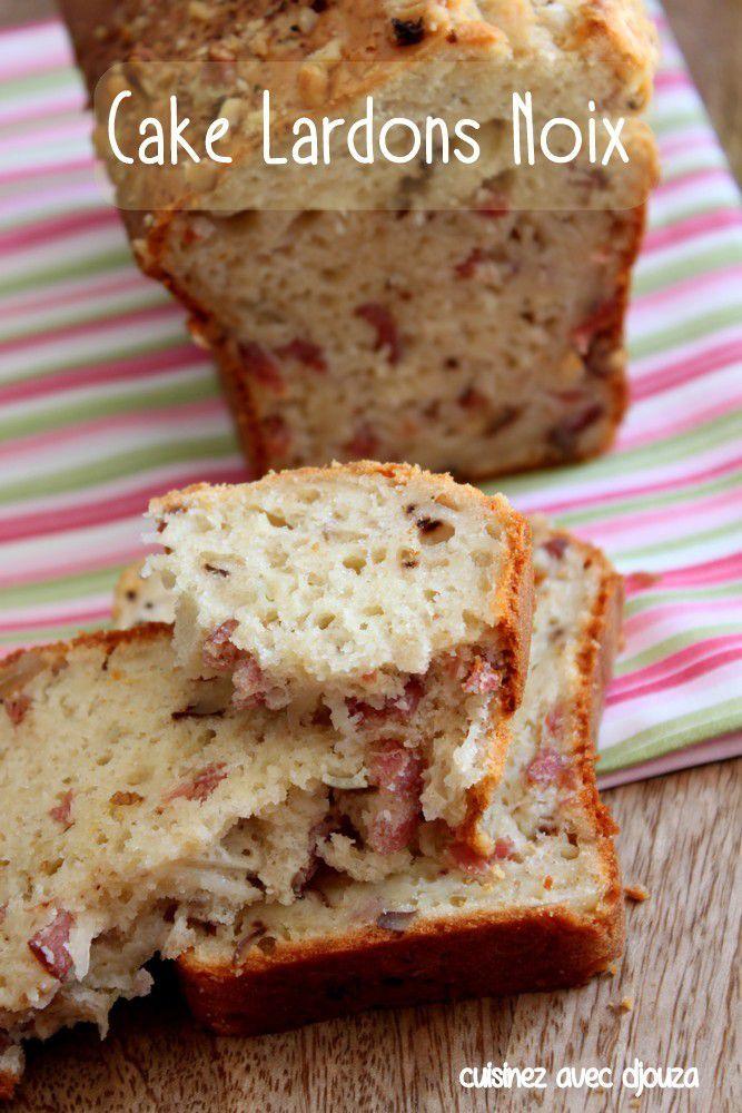 Cake salé lardons et noix