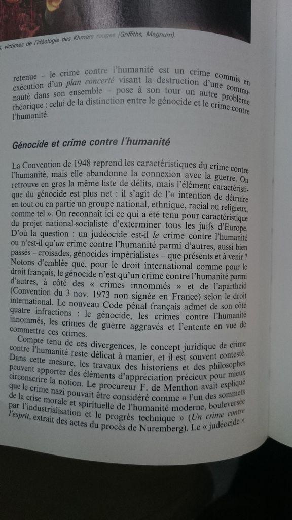 Crime contre l'humanité et génocide