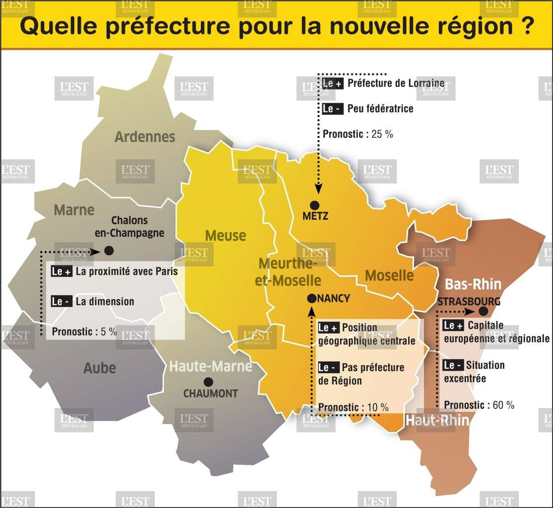 Carte de la future région