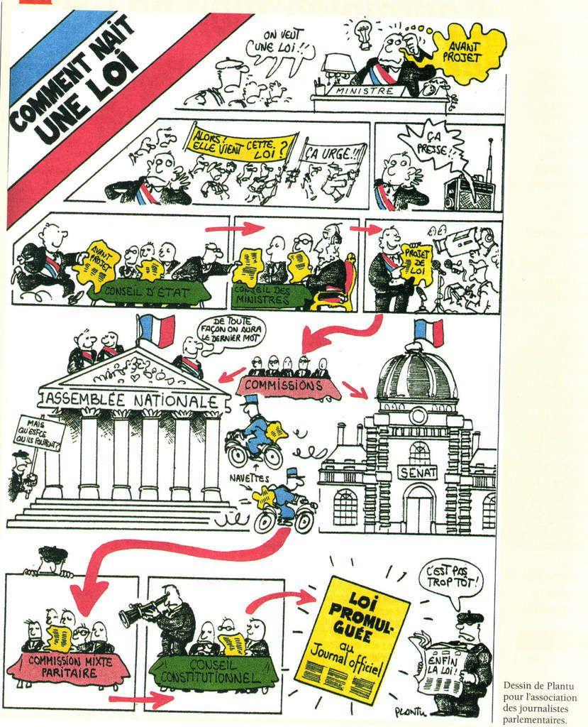 Activité 4ème # Comment naît la loi en France ?