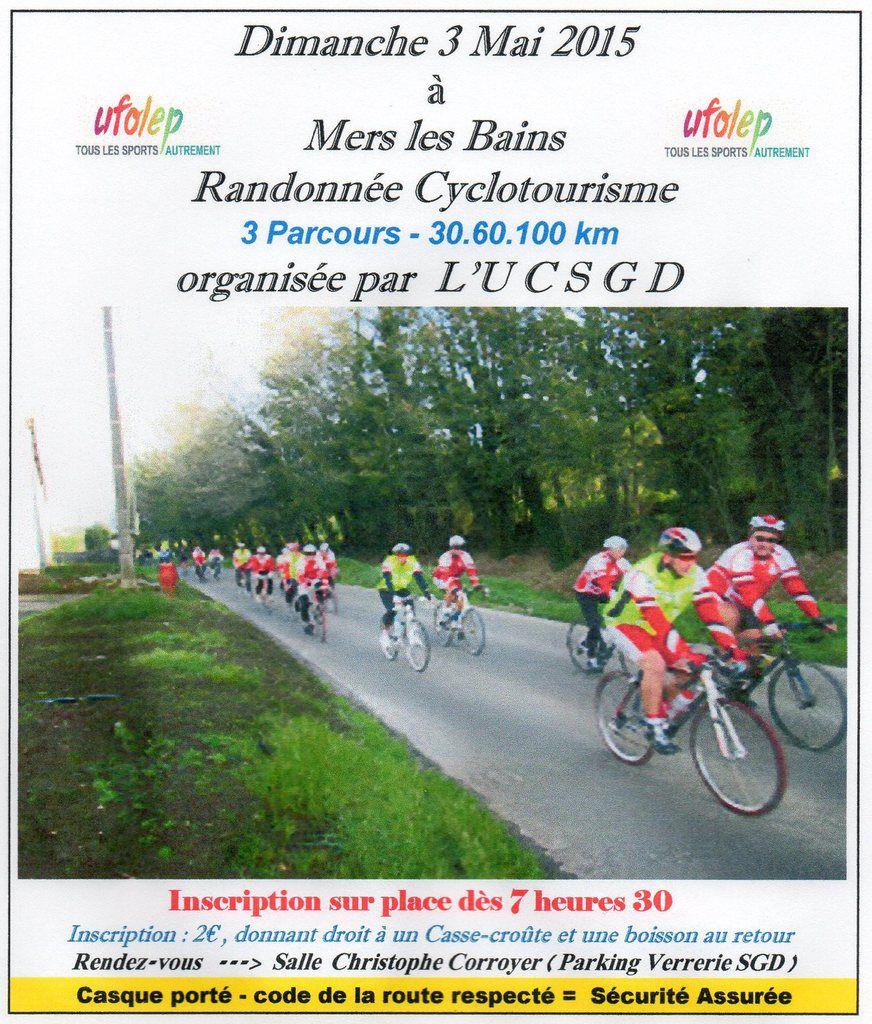 Cyclotourisme à l'affiche dimanche