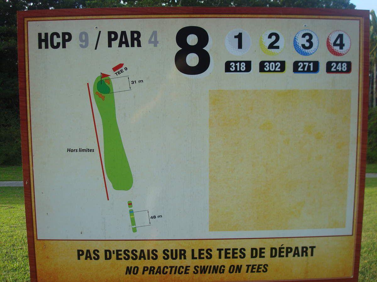 Le swing d'Eric : trou n°8 golf des Trois-Ilets