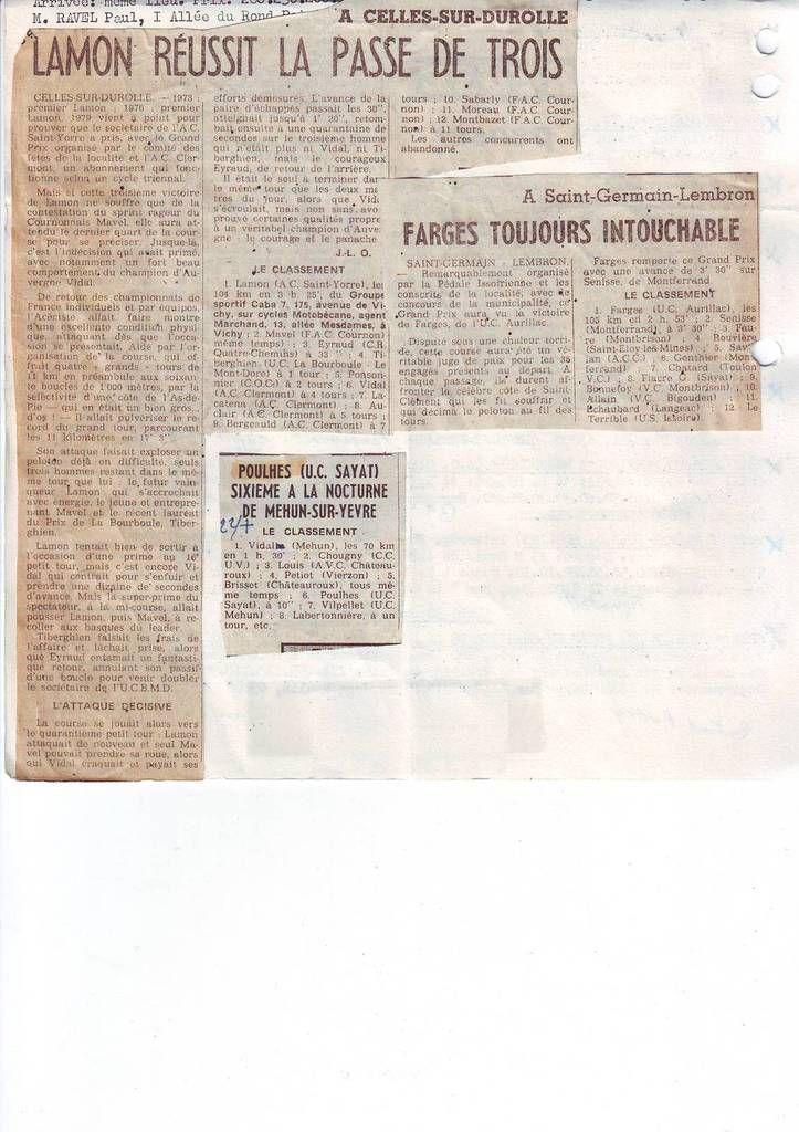 1979 : 3ème victoire du thiernois Jean Lamon