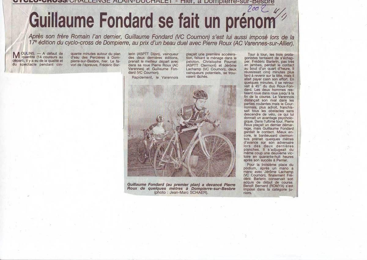 Edition du 11 novembre 2002  (Journal La Montagne)