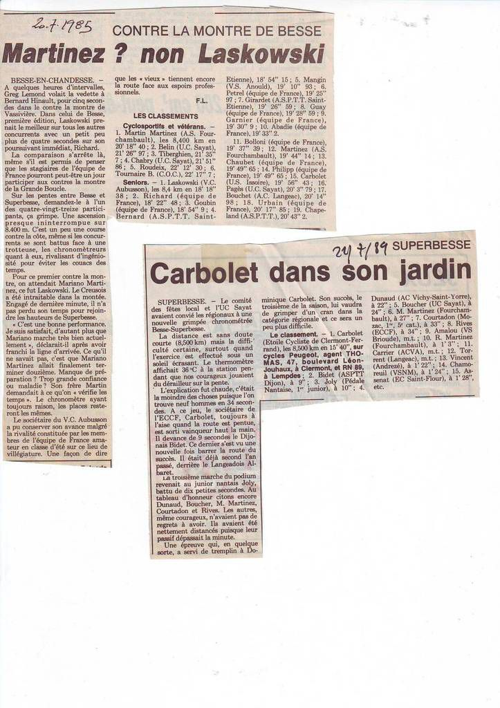 Articles du journal La Montagne