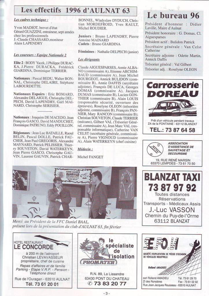Il y a 20 ans ... Aulnat 63 en DN2