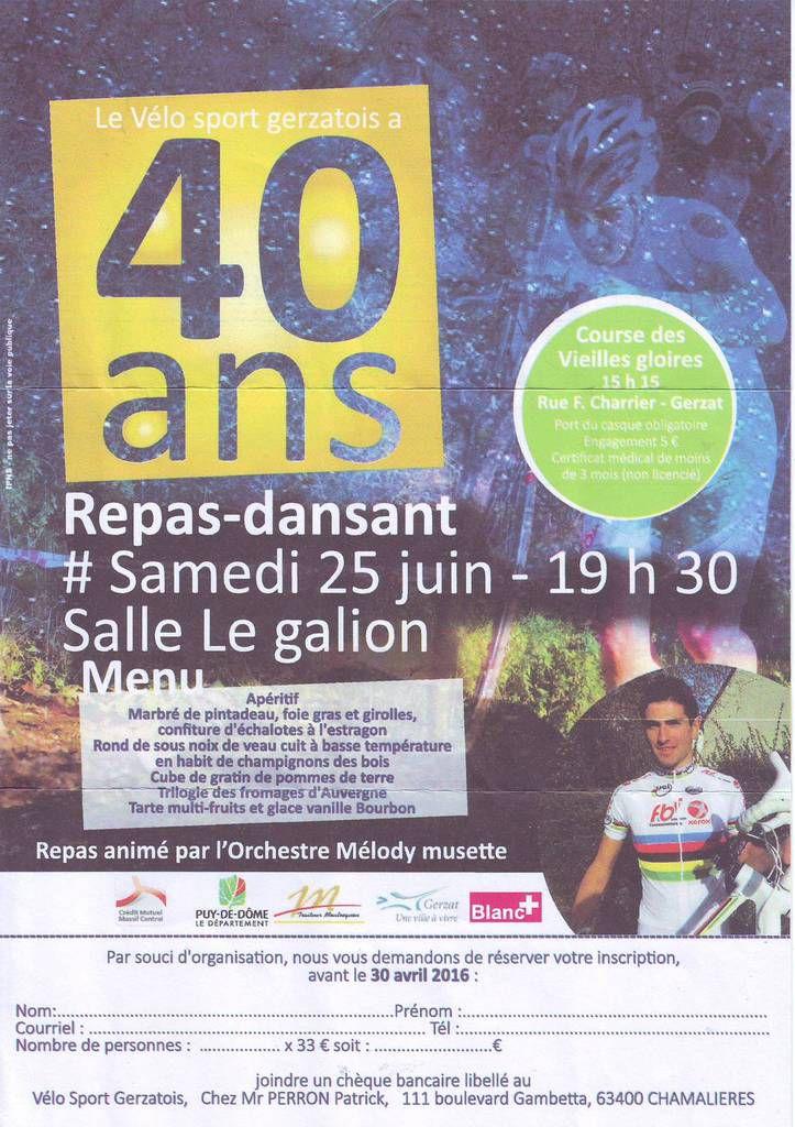 Les 40 ans du Vélo Sport Gerzatois