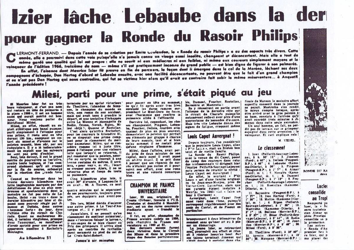 Il y a 50 ans ... (1 et 2 mai 1966)