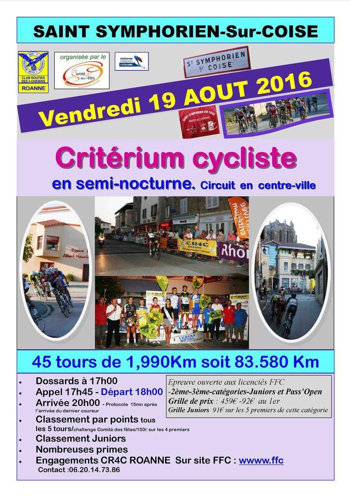 Vendredi, Critérium de Saint-Symphorien-sur-Coise