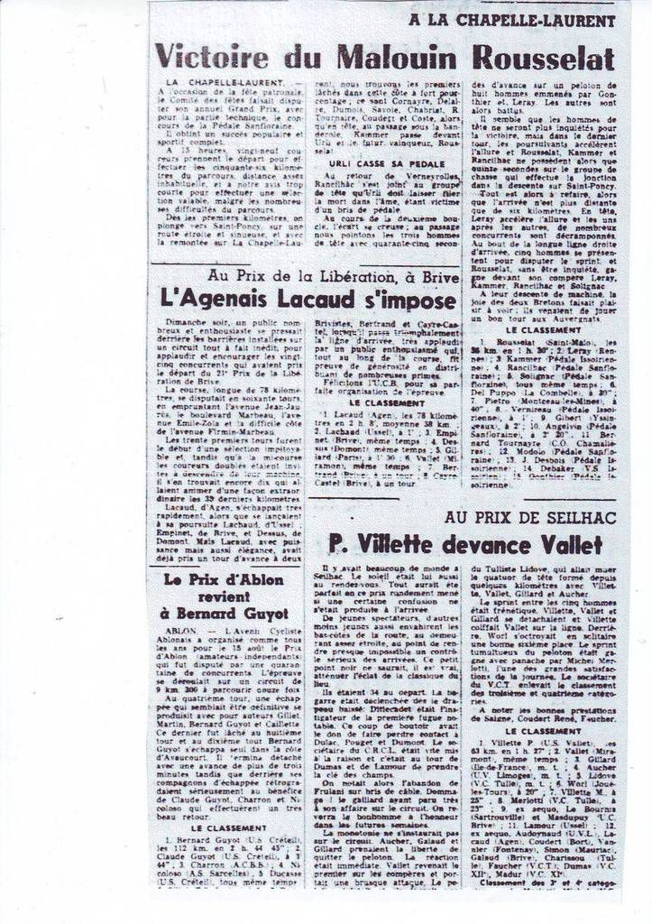 Il y a 50 ans ... (12 au 15 août 1966)