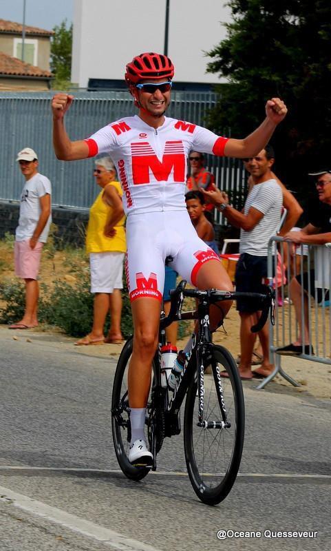 L'arrivée de Florian Esquer   (photo Océane Quesseveur)