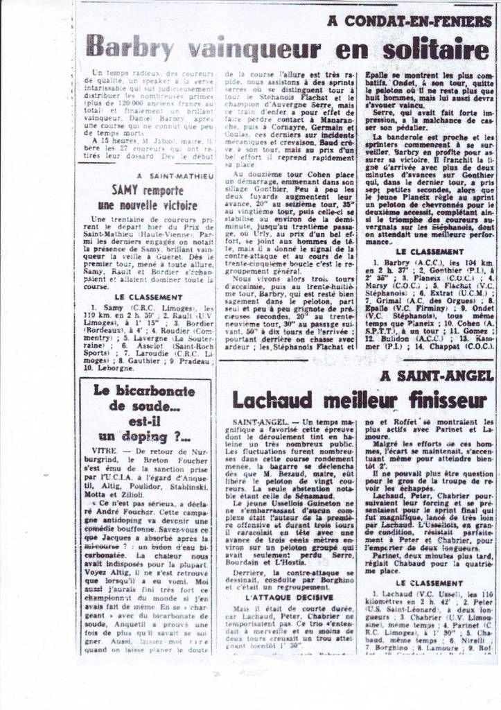 Il y a 50 ans ... (2 au 5 septembre 1966)
