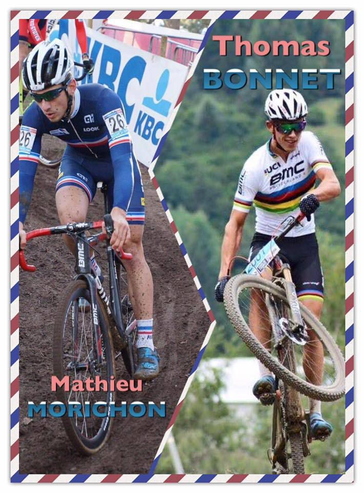 Mathieu Morichon et Thomas Bonnet  (Pub Planète Vélo Limoges)
