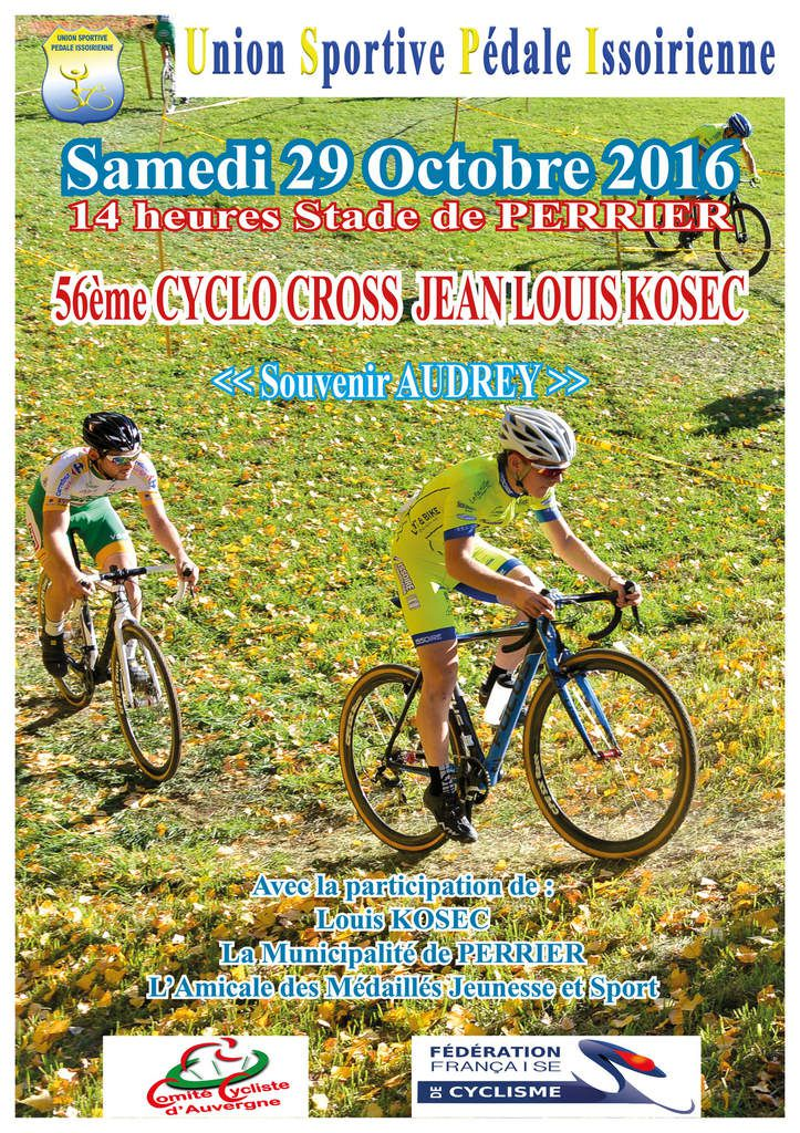 Cyclo-cross de Perrier  (les engagés)