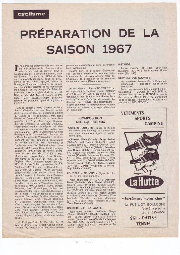 Il y a 50 ans ... (l'AC Boulogne-Billancourt)