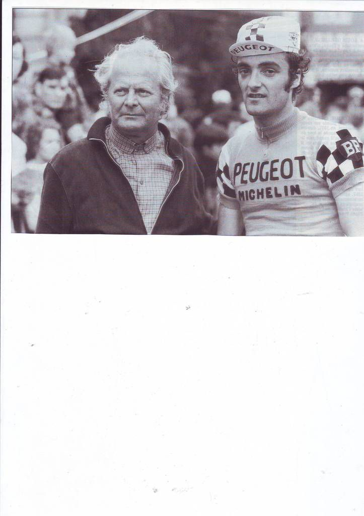 Michel Demore en compagnie de Paul Wiegant en 1973 (Photo Ile-de-France Cycliste)
